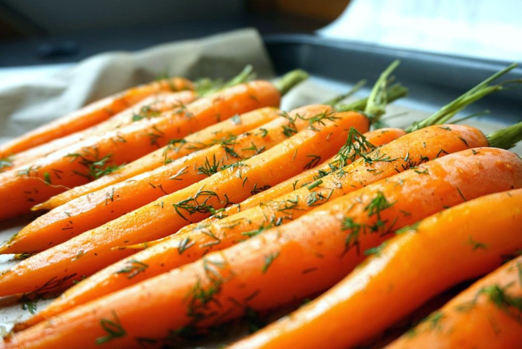 image of carrots from healthy chicken meatballs recipe