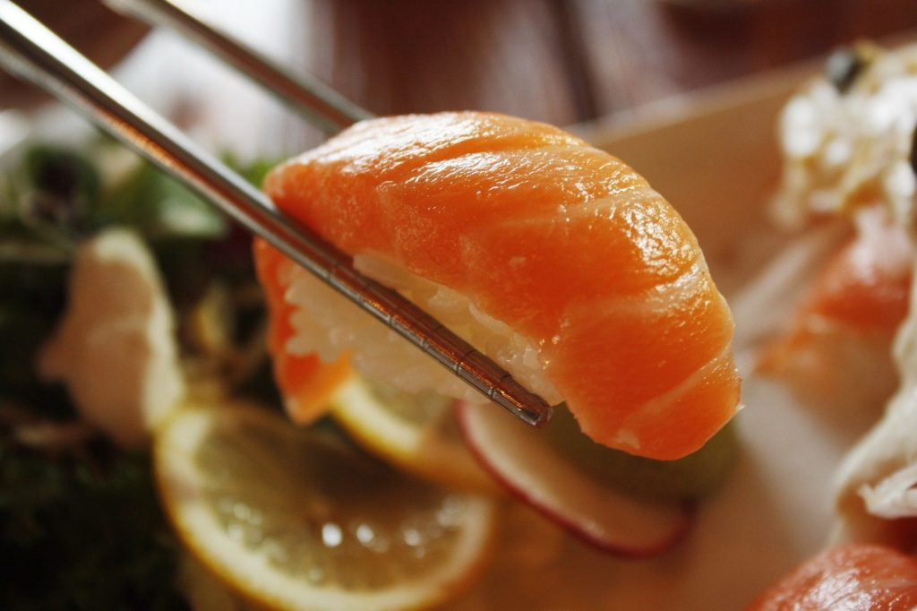 Sushi healthy sushi salmon roll delicious