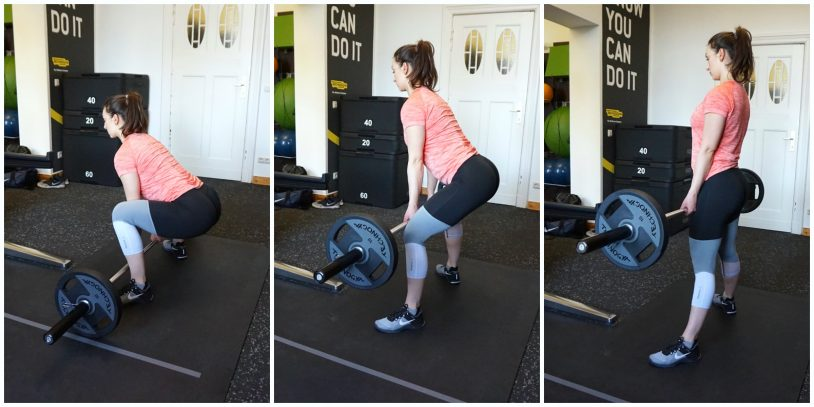 """A young woman performing a sumo deadlift from the article """"why you should deadlift"""""""