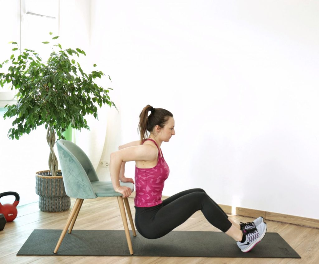 chair dips exercise part of upper body home workout