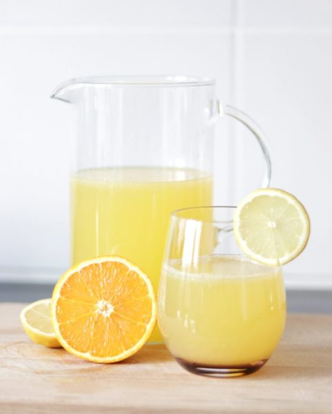 image of homemade electrolyte drink